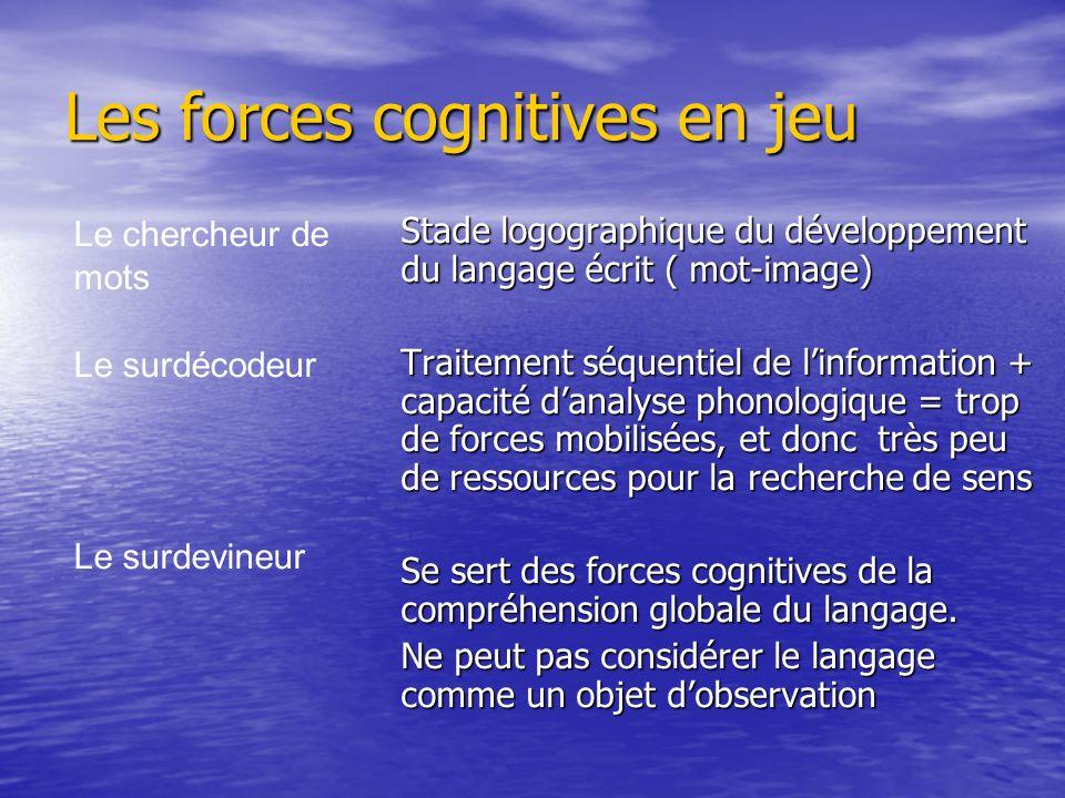 Les forces cognitives en jeu
