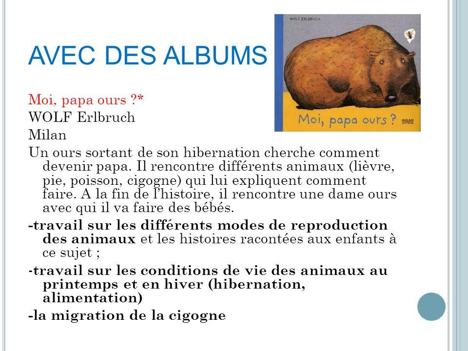 AVEC DES ALBUMS Moi, papa ours * WOLF Erlbruch Milan