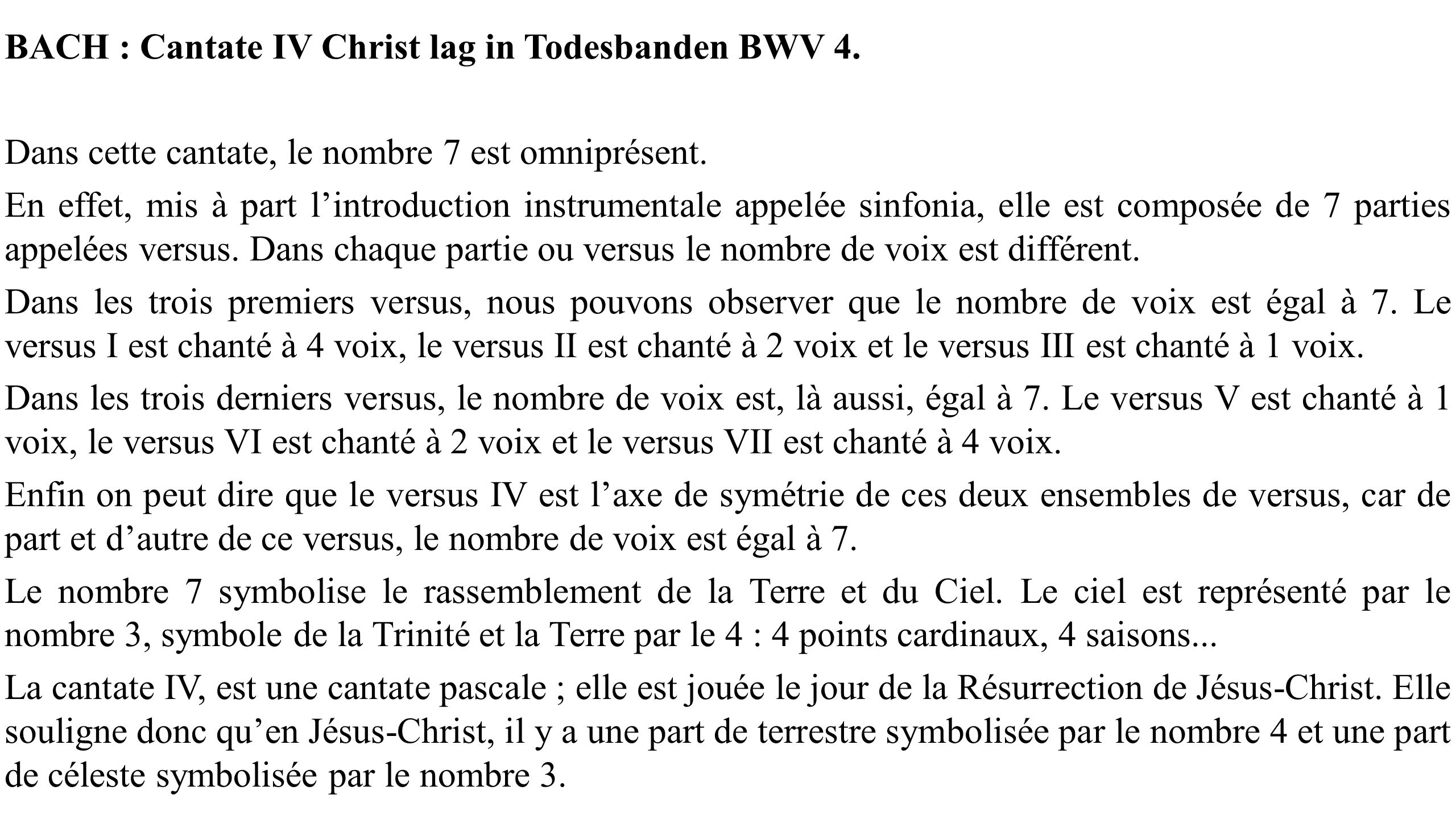 BACH : Cantate IV Christ lag in Todesbanden BWV 4.