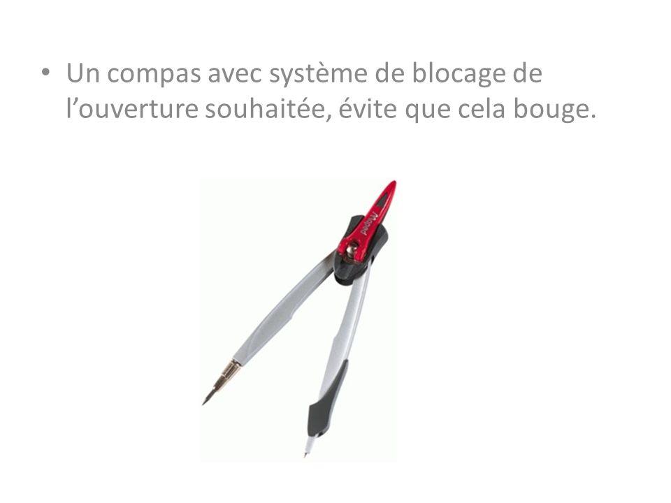 Un compas avec système de blocage de l'ouverture souhaitée, évite que cela bouge.