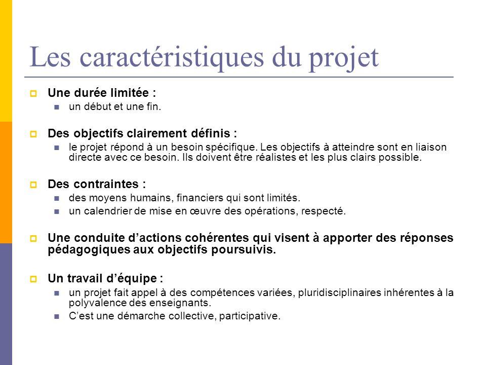 Les caractéristiques du projet