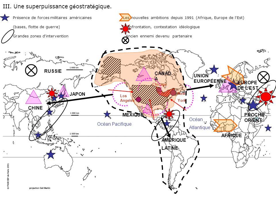 III. Une superpuissance géostratégique.
