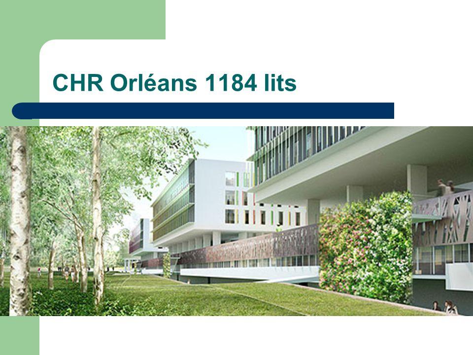 CHR Orléans 1184 lits