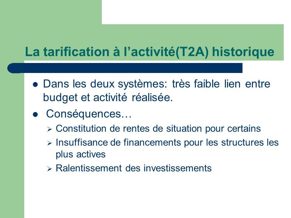 La tarification à l'activité(T2A) historique