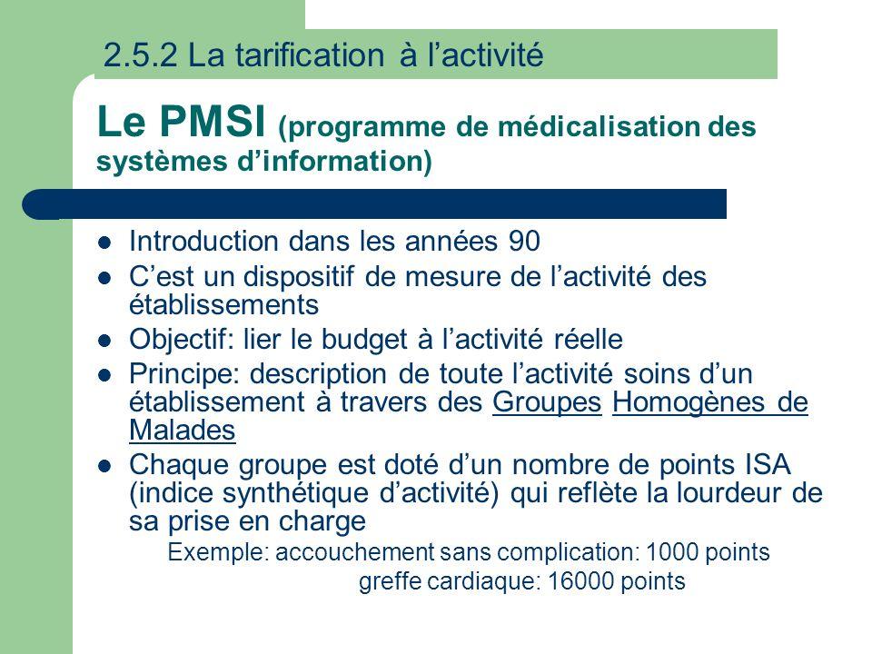 Le PMSI (programme de médicalisation des systèmes d'information)