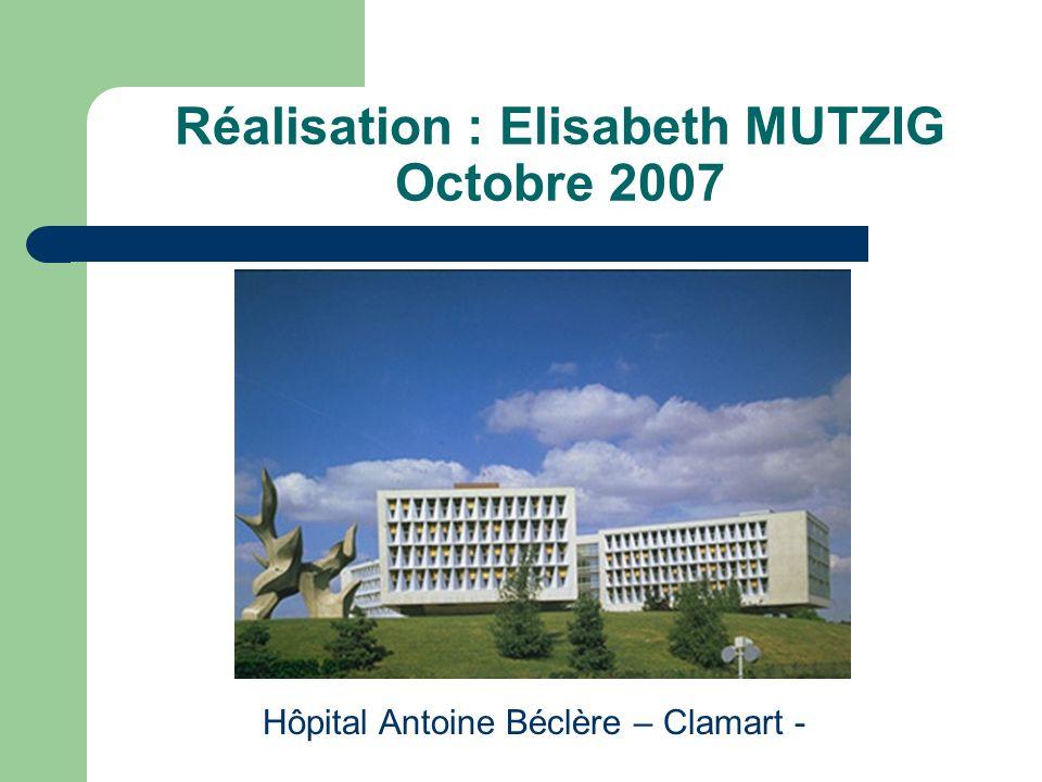 Réalisation : Elisabeth MUTZIG Octobre 2007
