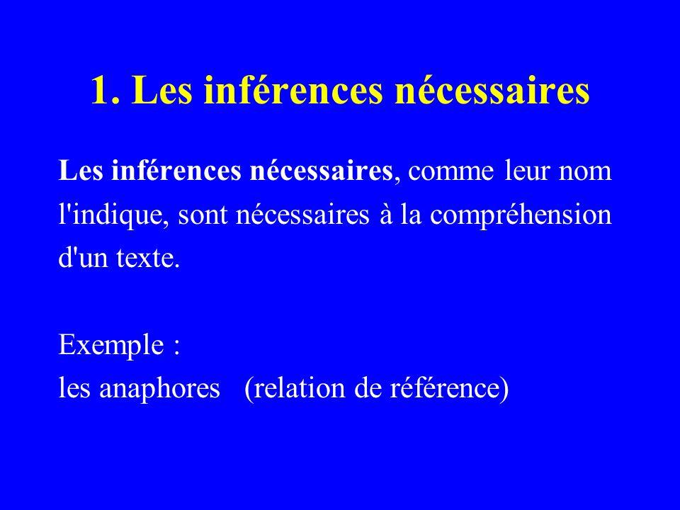 1. Les inférences nécessaires