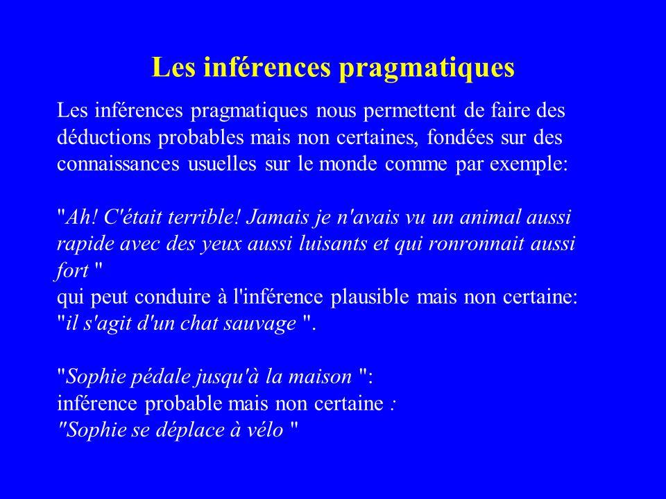 Les inférences pragmatiques