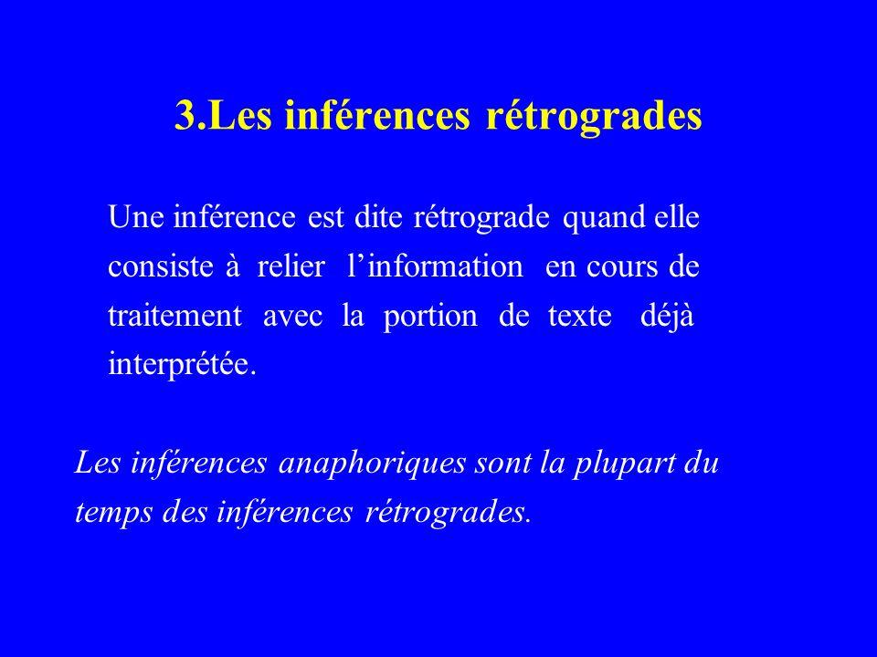 3.Les inférences rétrogrades
