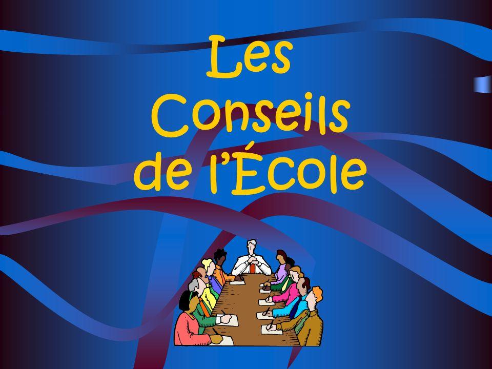 Les Conseils de l'École