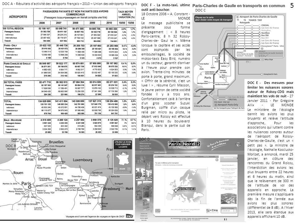 DOC A - Résultats d'activité des aéroports français – 2010 – Union des aéroports français