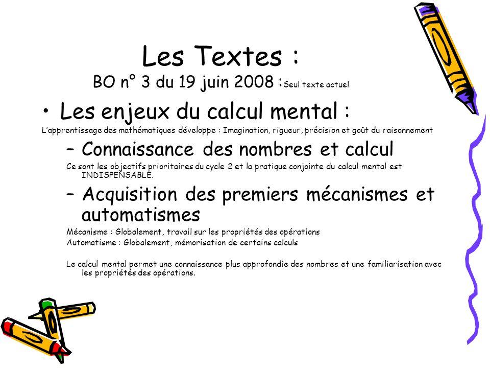 Les Textes : BO n° 3 du 19 juin 2008 :Seul texte actuel