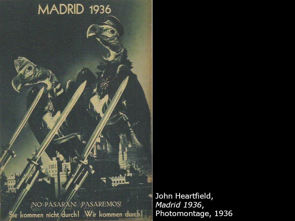 John Heartfield, Madrid 1936, Photomontage, 1936