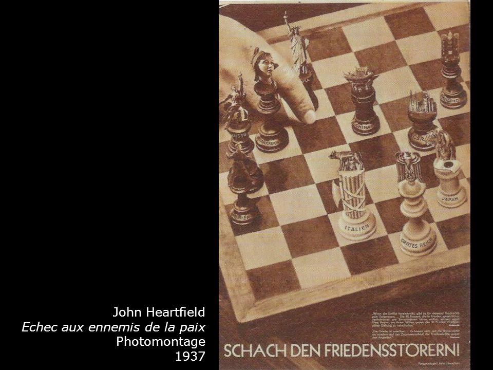 John Heartfield Echec aux ennemis de la paix Photomontage 1937