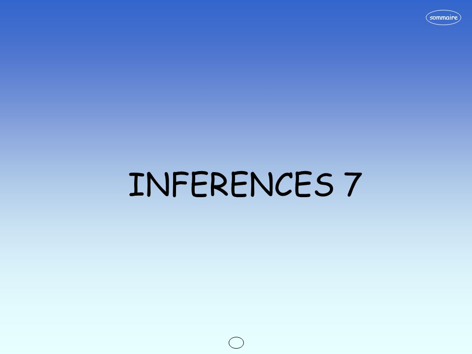 sommaire INFERENCES 7