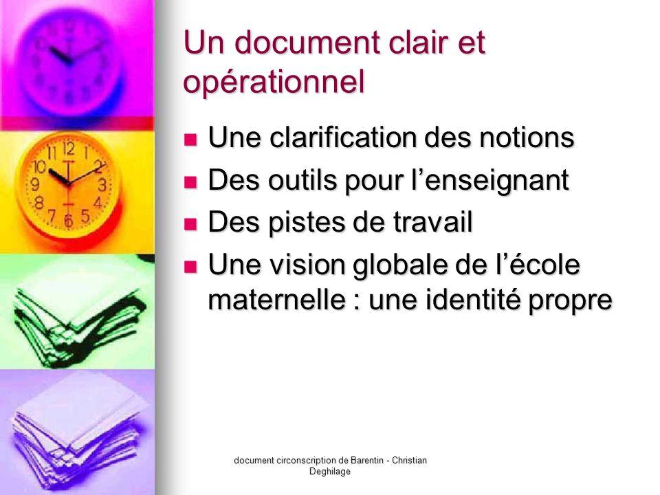 Un document clair et opérationnel