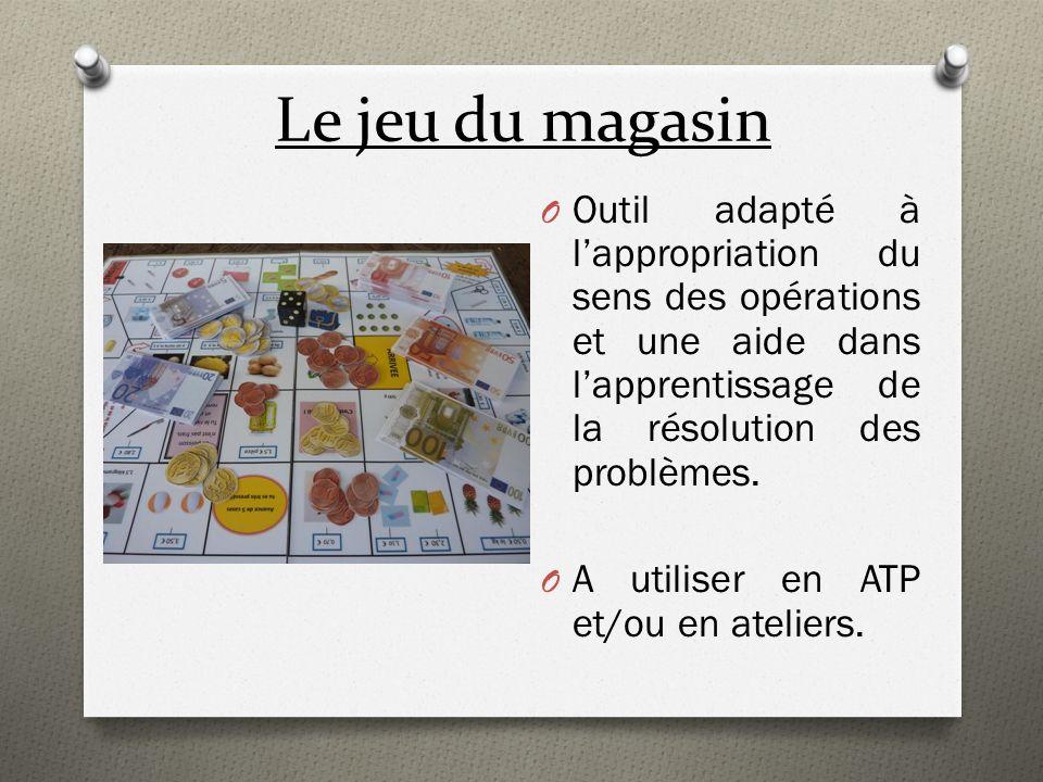 Le jeu du magasin Outil adapté à l'appropriation du sens des opérations et une aide dans l'apprentissage de la résolution des problèmes.