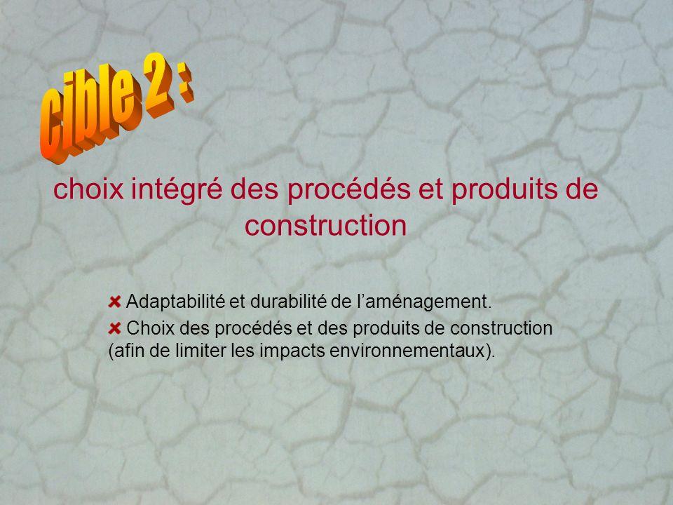 choix intégré des procédés et produits de construction