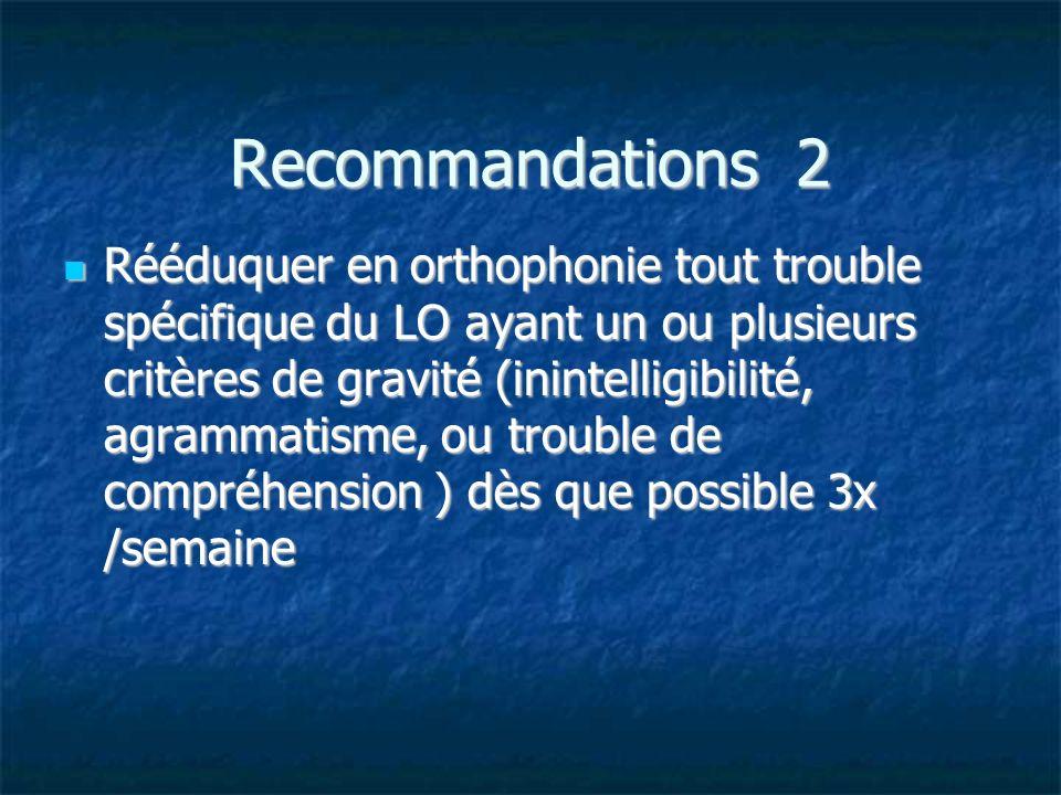 Recommandations 2