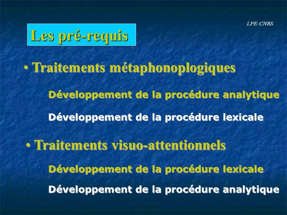 Les pré-requis Traitements métaphonoplogiques