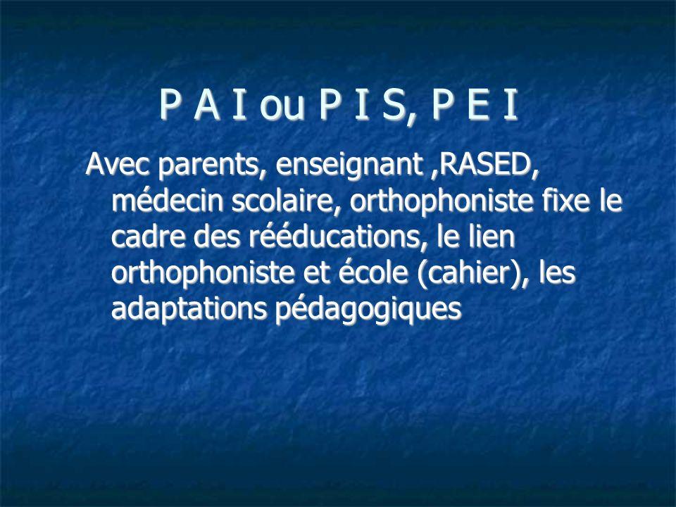 P A I ou P I S, P E I
