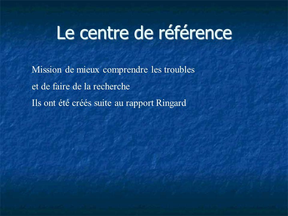 Le centre de référence Mission de mieux comprendre les troubles