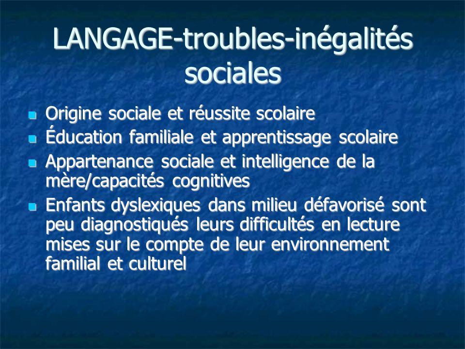 LANGAGE-troubles-inégalités sociales