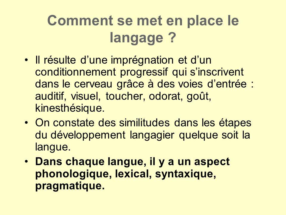 Comment se met en place le langage