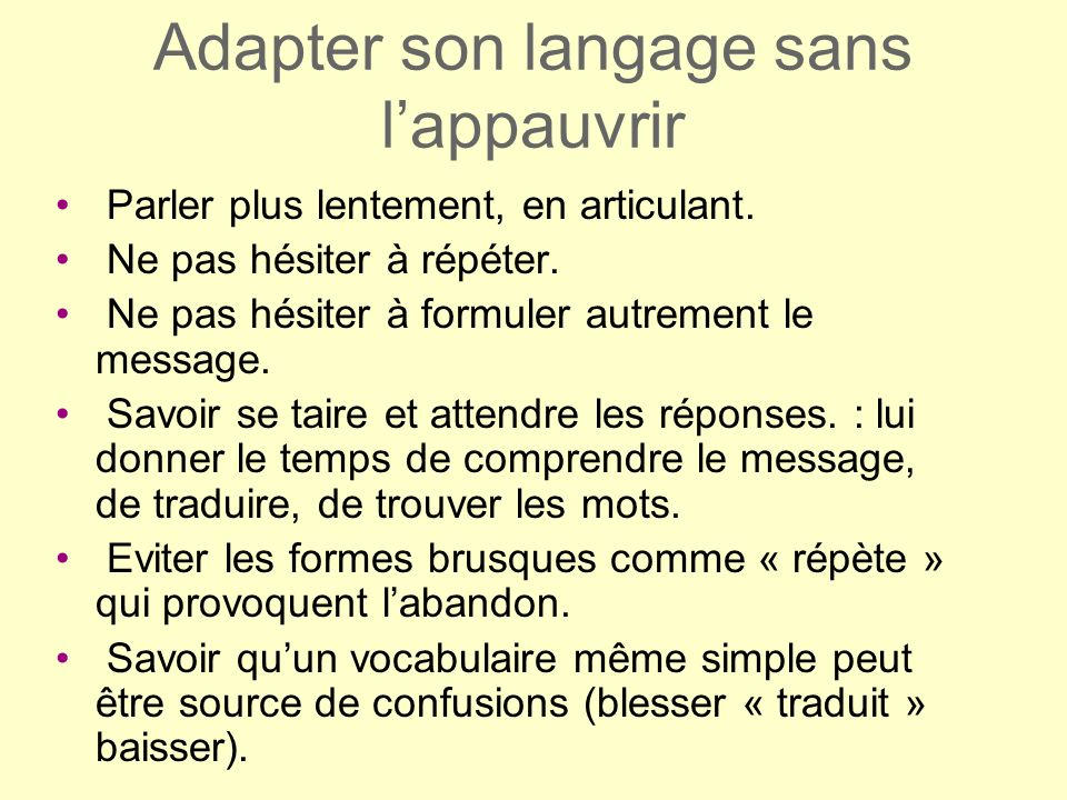 Adapter son langage sans l'appauvrir