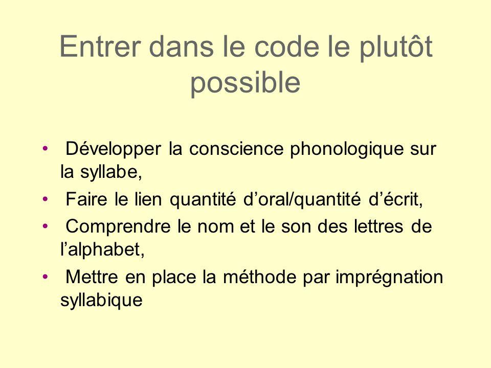 Entrer dans le code le plutôt possible