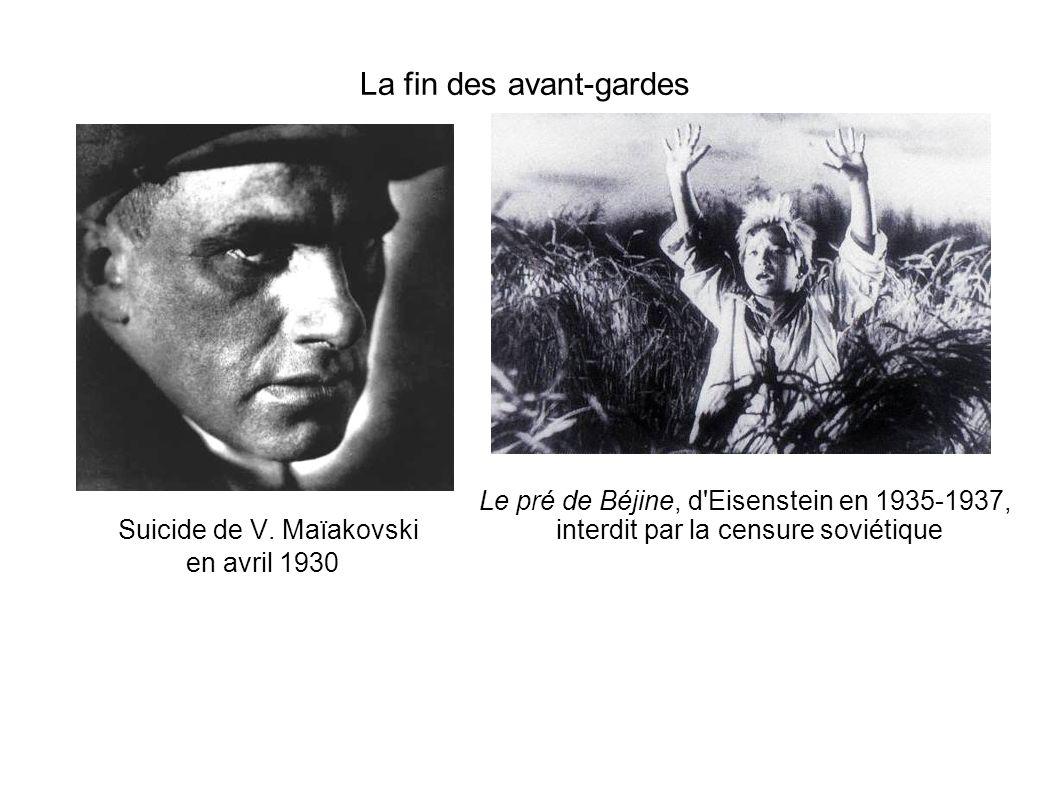 Suicide de V. Maïakovski en avril 1930