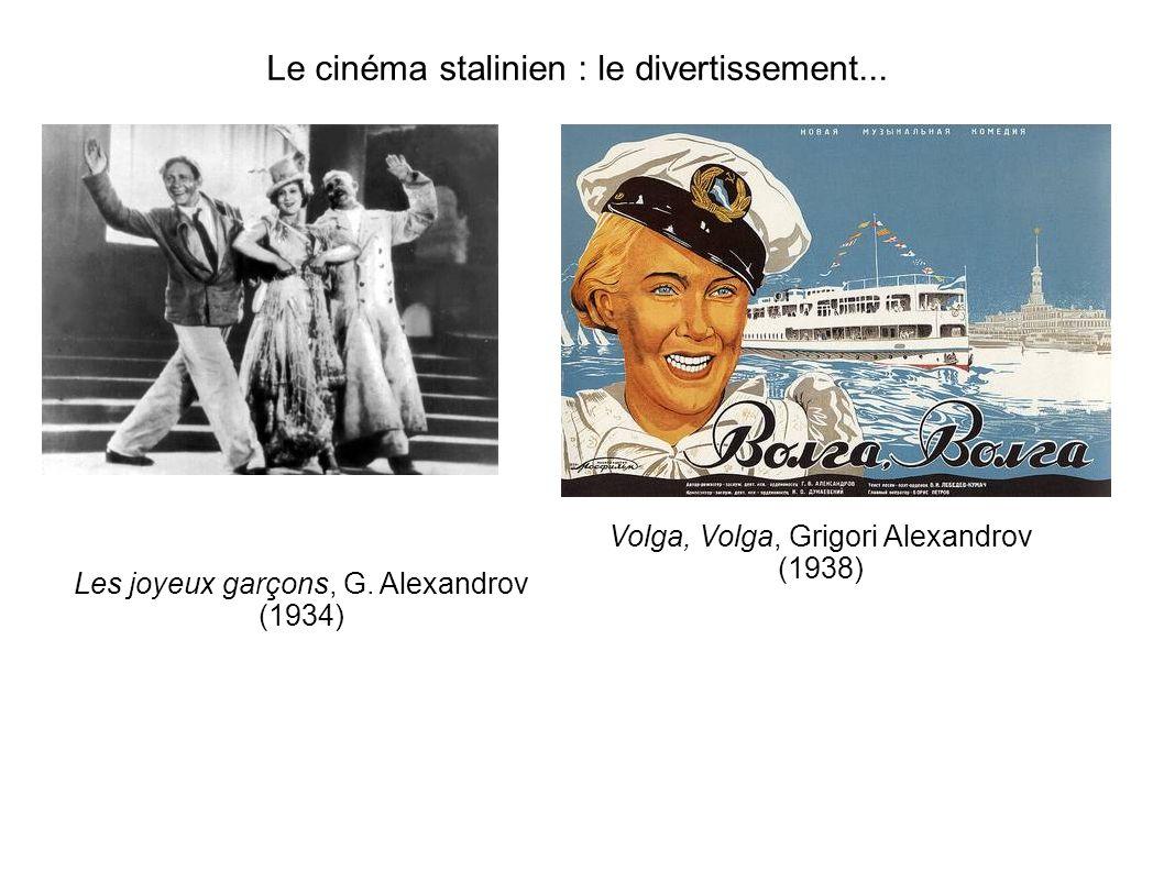Le cinéma stalinien : le divertissement...