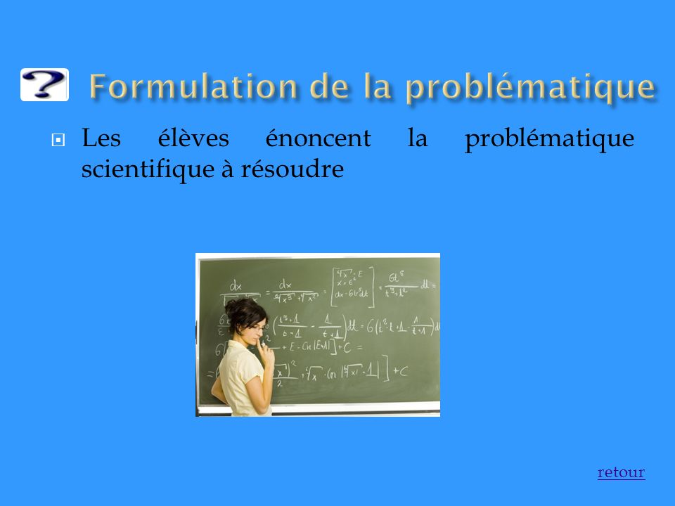 Formulation de la problématique