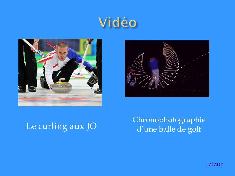 Chronophotographie d'une balle de golf