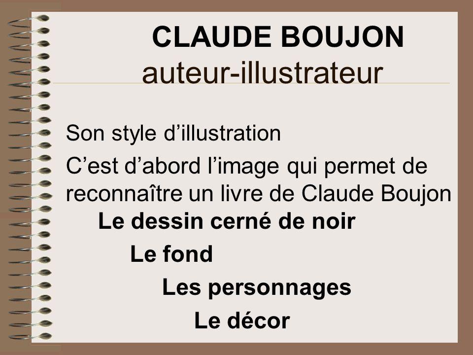 auteur-illustrateur CLAUDE BOUJON