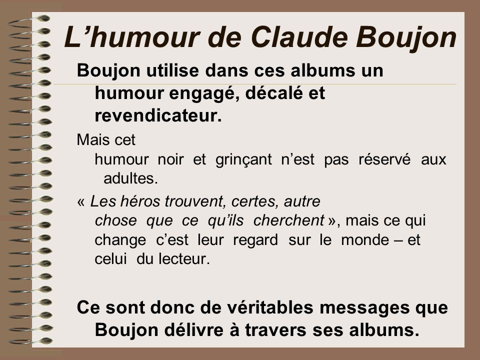 L'humour de Claude Boujon