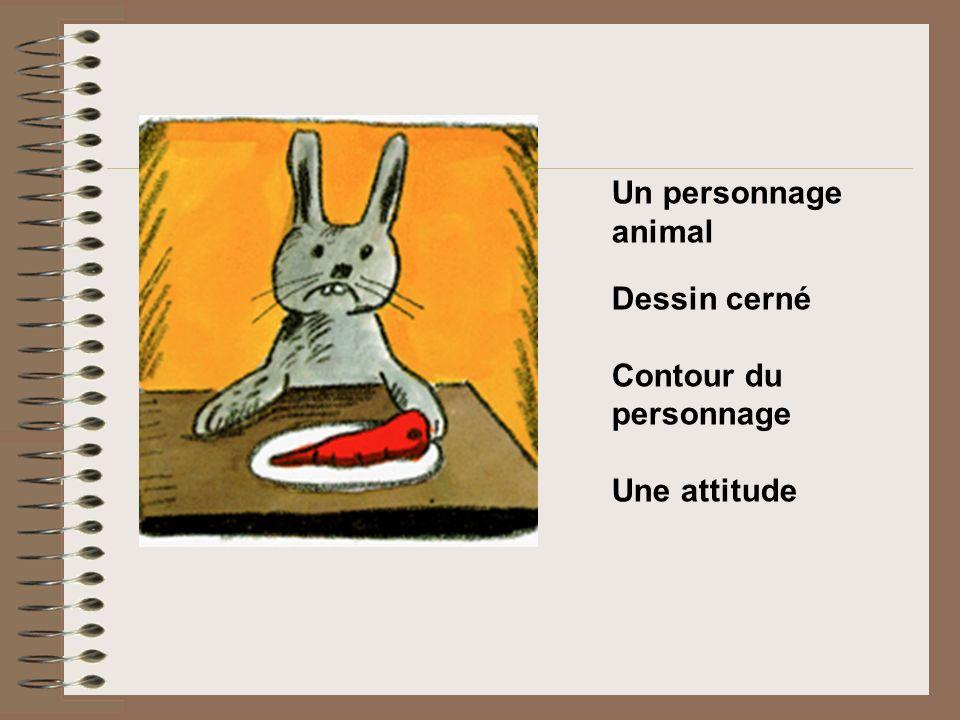 Un personnage animal Dessin cerné Contour du personnage Une attitude