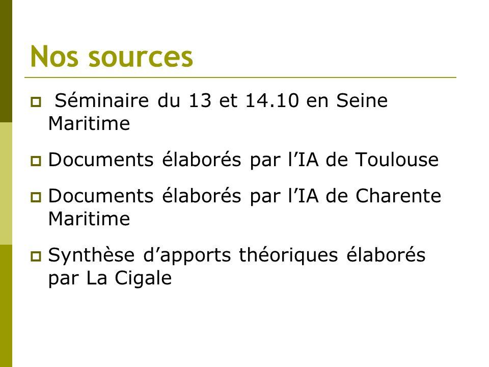 Nos sources Séminaire du 13 et 14.10 en Seine Maritime