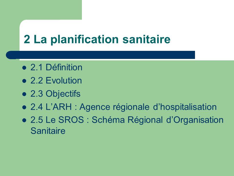 2 La planification sanitaire