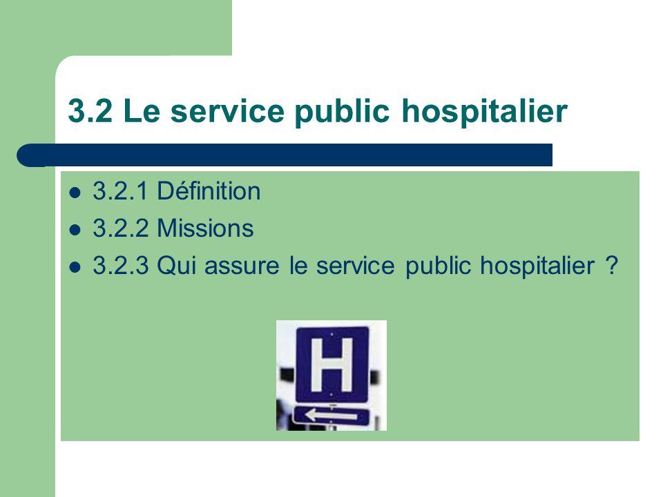 3.2 Le service public hospitalier