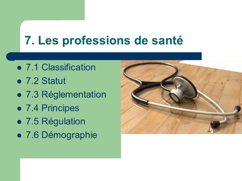 7. Les professions de santé