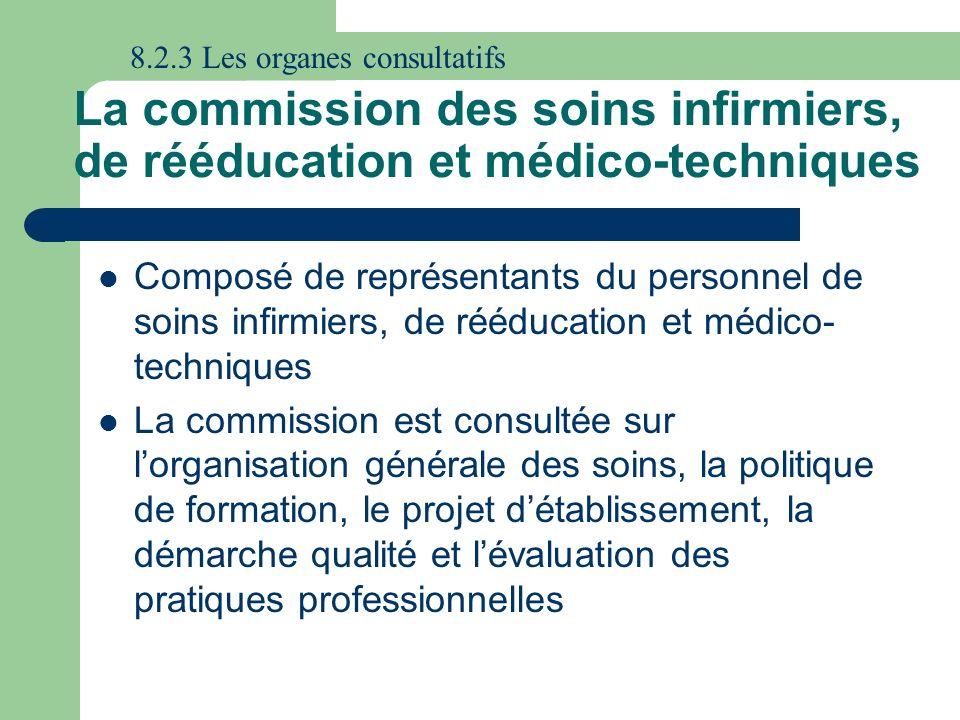 8.2.3 Les organes consultatifs