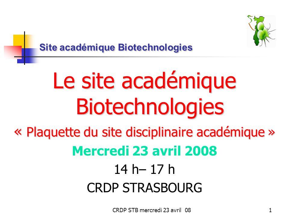 Site académique Biotechnologies