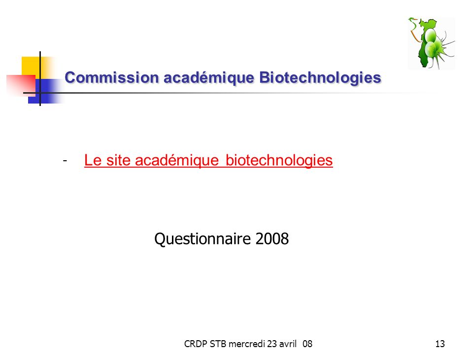 Commission académique Biotechnologies