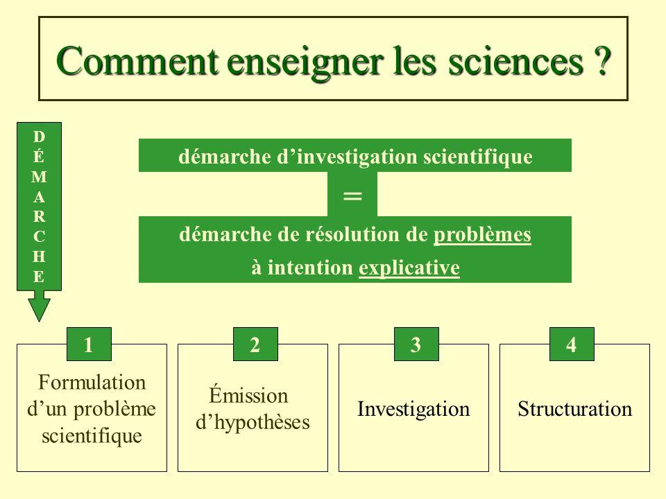 Comment enseigner les sciences
