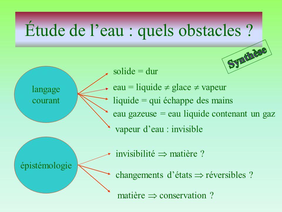 Étude de l'eau : quels obstacles