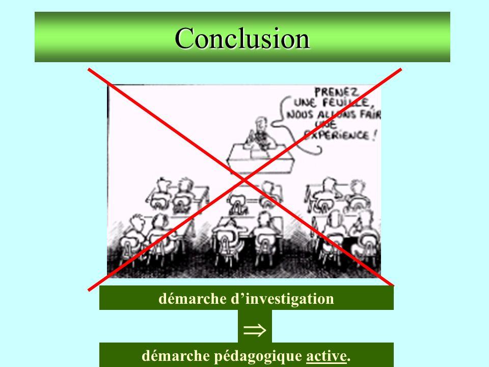 démarche d'investigation démarche pédagogique active.