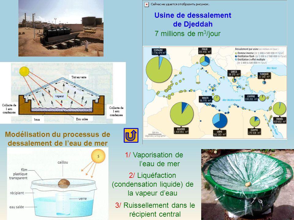 Modélisation du processus de dessalement de l'eau de mer
