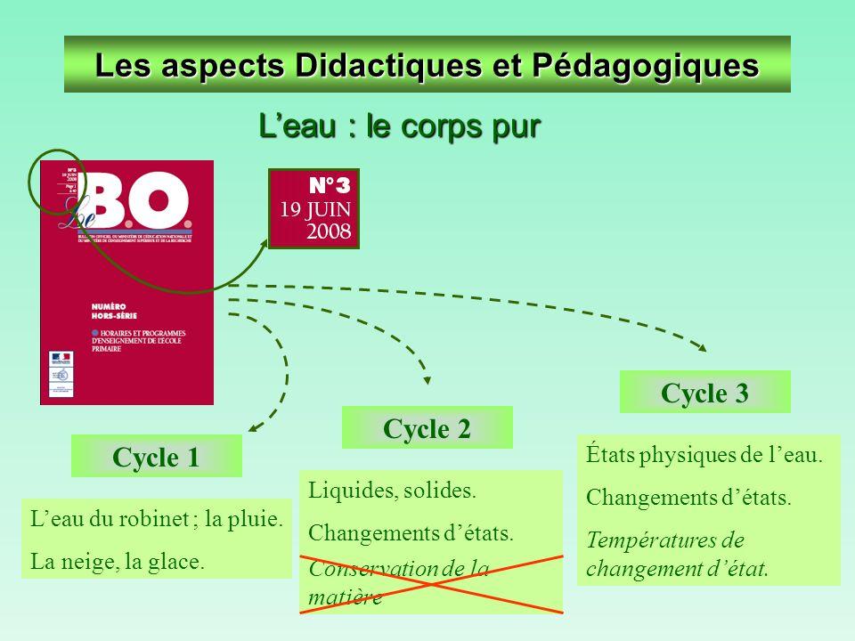 Les aspects Didactiques et Pédagogiques