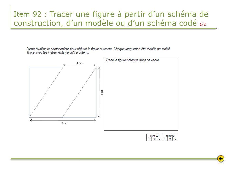 Item 92 : Tracer une figure à partir d'un schéma de construction, d'un modèle ou d'un schéma codé 1/2